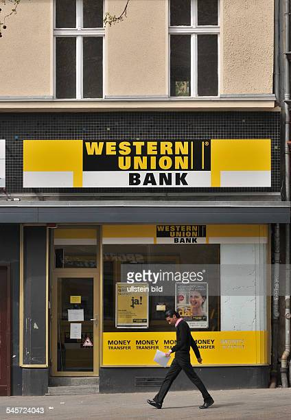 Germany Berlin Schoeneberg Bank Western Union at Potsdamer Strasse
