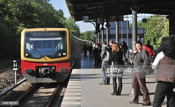 Germany Berlin Steglitz SBahn line S1 to Oranienburg at SBahn station Rathaus Steglitz