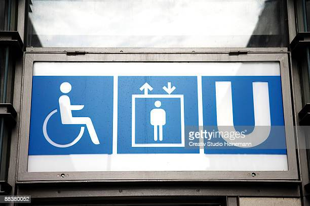 germany, berlin, subway sign, low angle view - underground sign stock pictures, royalty-free photos & images