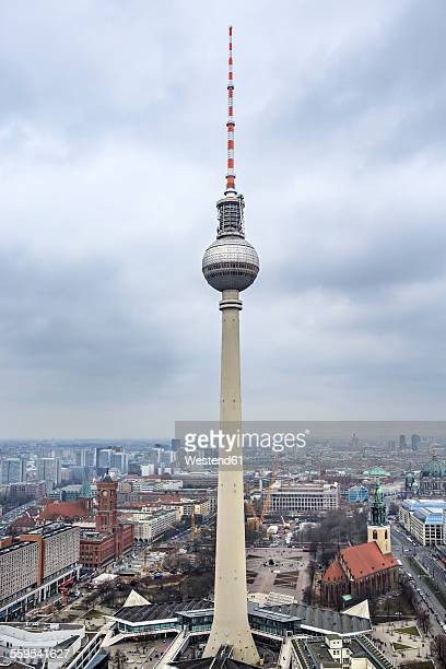 Germany, Berlin, television tower at Alexanderplatz