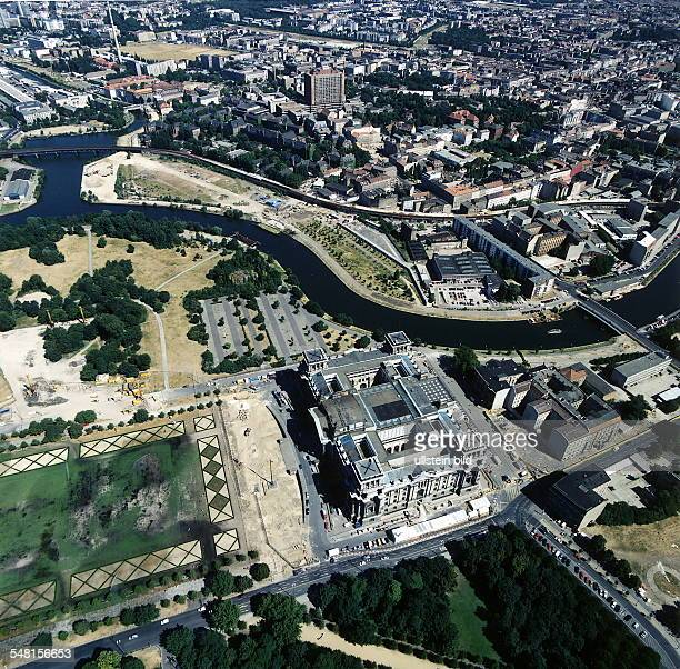 The Reichstag and Berlin Mitte Aerial view August 1995