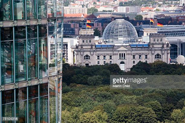 Germany, Berlin, The Reichstag, cityscape