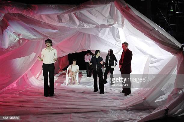 Hebbel am Ufer HAU 1 Berlin play Jeff Koons by Rainald Goetz directed by Angela Richter stage and costumes Steffi Bruhn actors Yuri Englert Christop...