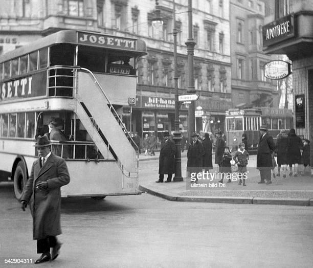 Germany; Berlin; traffic at Ackerstrasse; taken by Emerich Goendoer - 1929