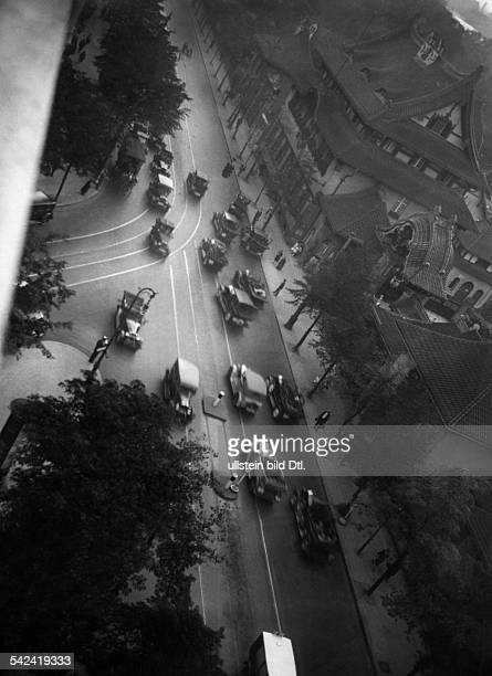 Germany Berlin Traffic on the Budapester Strasse in front of the entrance to the zoo Photographer Herbert Hoffmann ca 1930Vintage property of...