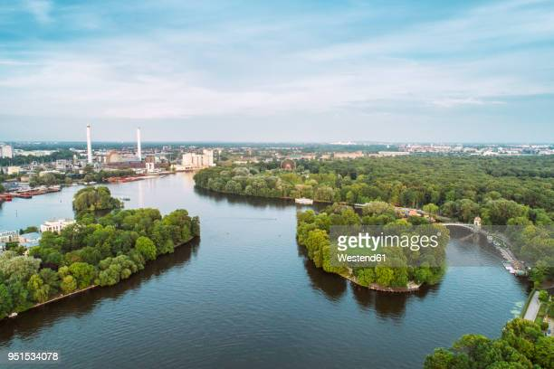germany, berlin, treptow park - spree river stock pictures, royalty-free photos & images