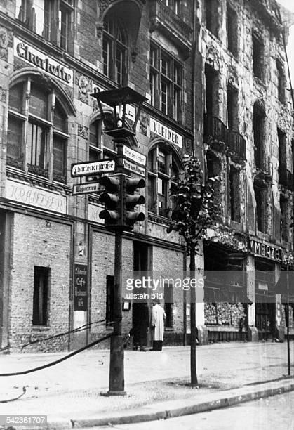 Unter den Linden closed Cafe Kranzler 1947