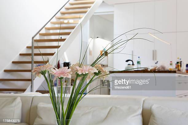 Germany, Berlin, Various flower in modern interior