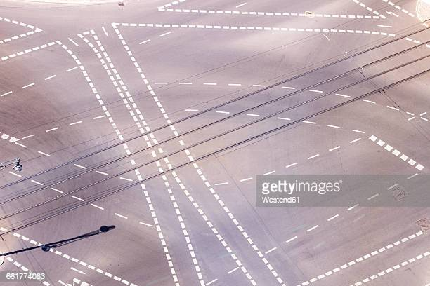 Germany, Berlin, view of crossroads seen from above
