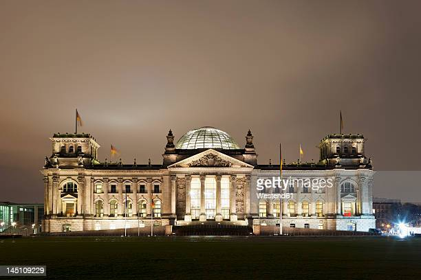 Germany, Berlin, View of Reichstag building at night