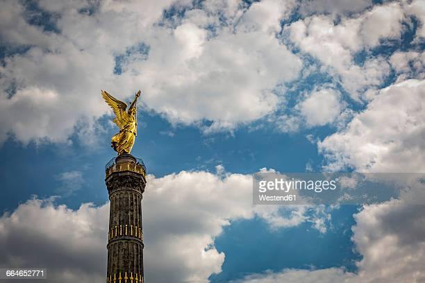 Germany, Berlin, view of victory column against cloudy sky