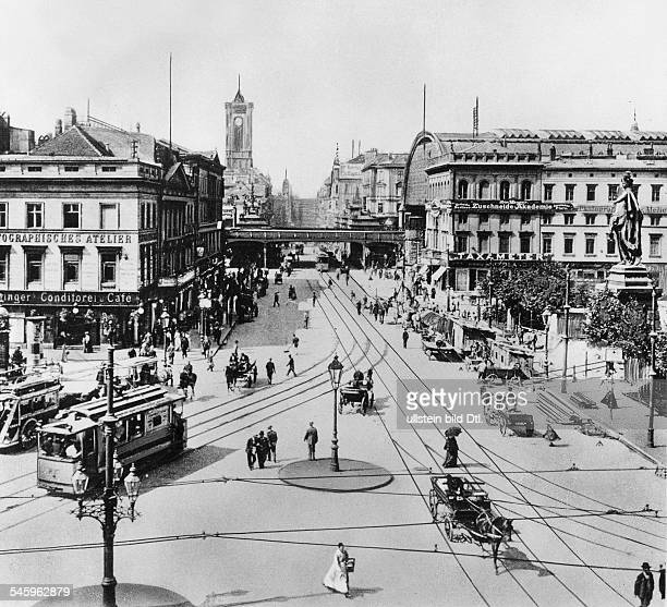 Germany Berlin view over Alexanderplatz to the Koenigsstrasse arround 1910