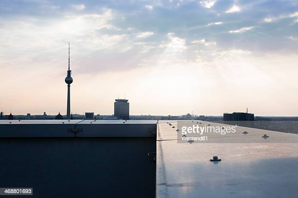 Germany, Berlin, View over city from rooftop terrace