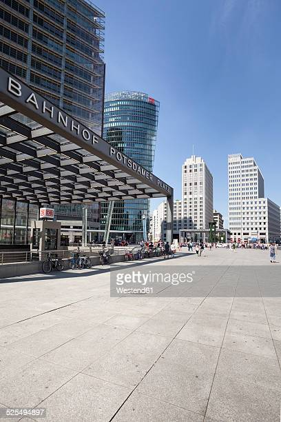 Germany, Berlin, view to BahnTower, Beisheim Center and railway station at Potsdam Square