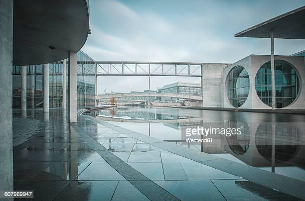 Germany, Berlin, view to Marie-Eisabeth-Lueders- and Paul-Loebe-Building in winter