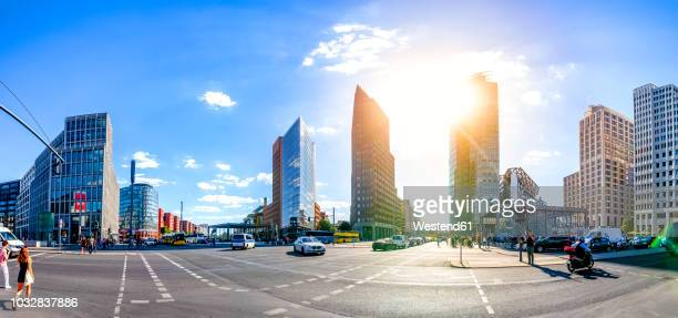 Germany, Berlin, view to Potsdamer Platz at backlight