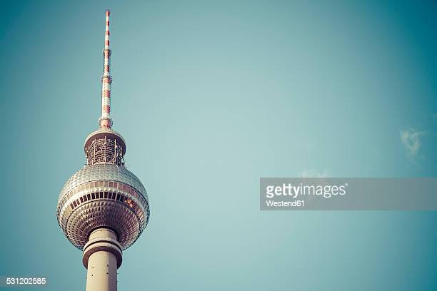 Germany, Berlin, view to upper part of television tower