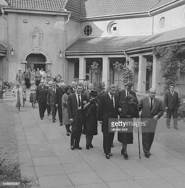 Germany Berlin Wedding buriel of Ida Siekmann at the municipal cemetry Seestrasse Ida Siekman was the first wall victim on 22august 1961