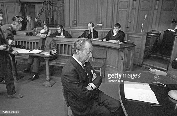 Germany - Berlin - West-Berlin: trial against Horst Mahler, member of the Baader-Meinhof-Group, who was accused of taking part in the violent...