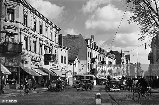 Germany Berlin Wilmersdorf - Street scene at Schmargendorf. - around 1954