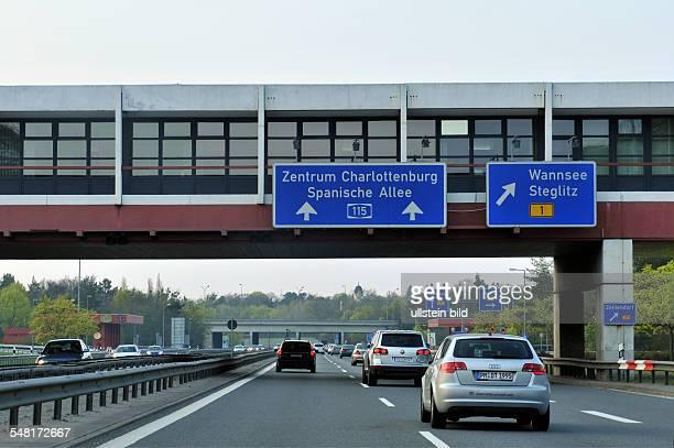 Germany Berlin Zehlendorf - motorway A115, Dreilinden, exit Wannsee, Steglitz