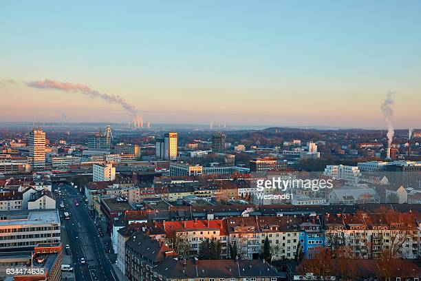 Germany, Bochum, cityscape in the morning