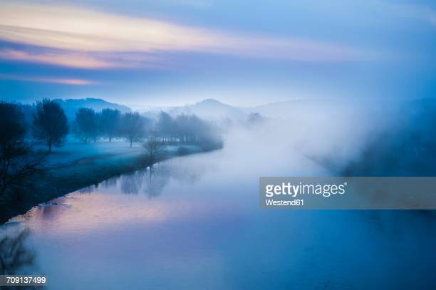germany, bochum, sunrise at kemnader see - north rhine westphalia stock pictures, royalty-free photos & images