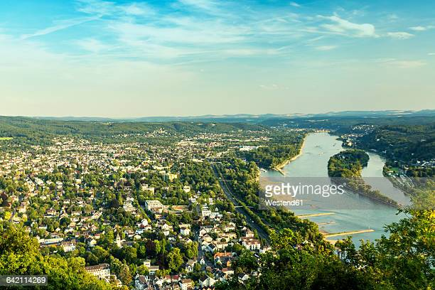 Germany, Bonn and Rhine river, Seven Mountains