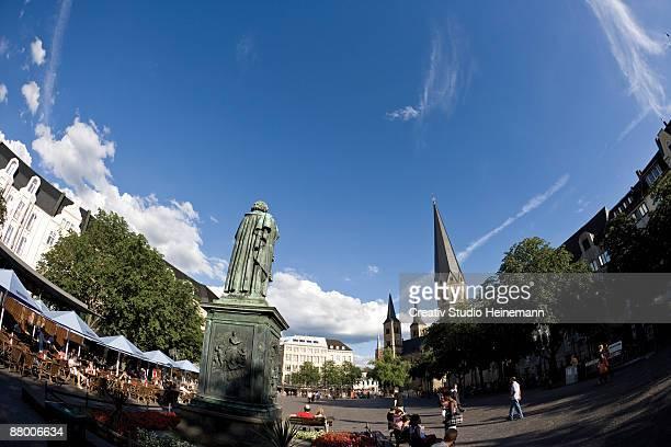 Germany, Bonn, Beethoven Statue at Munsterplatz
