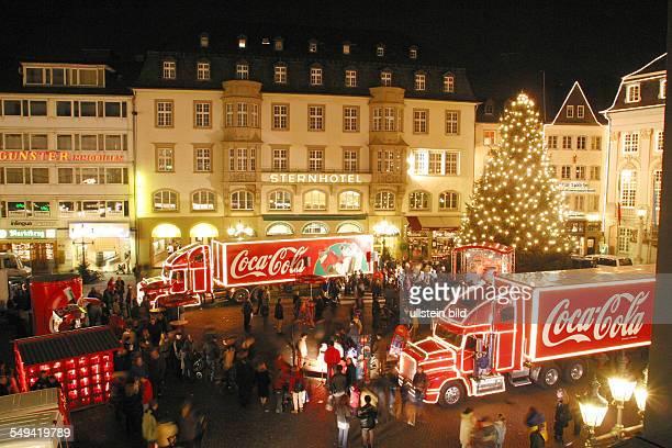 GER Germany Bonn Christmas market Coca Cola truck