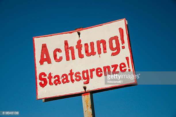 Germany, Border sign, National border