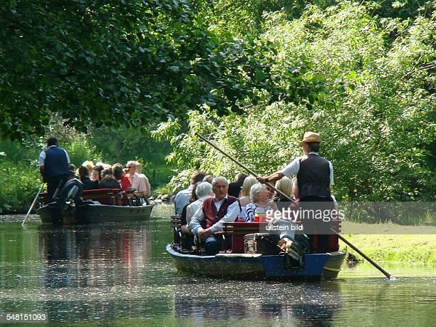 Germany Brandenburg Boat trip on the river spree through the Spreewald