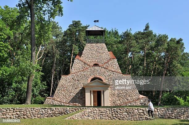 Germany Brandenburg Garzau boulder pyramid built by Graf von Schmettau