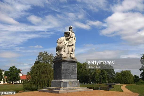 Germany Brandenburg Neuhardenberg castle Schloss Neuhardenberg monument for Friedrich II in the park