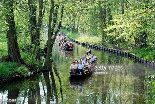 Germany Brandenburg Spreewald 'Spreewald' poling barkes