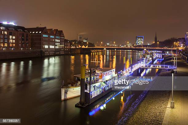 Germany, Bremen, city view at night