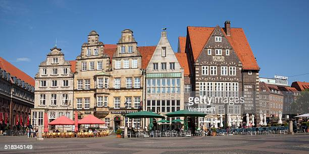 Germany, Bremen, Market square, Row of historical houses