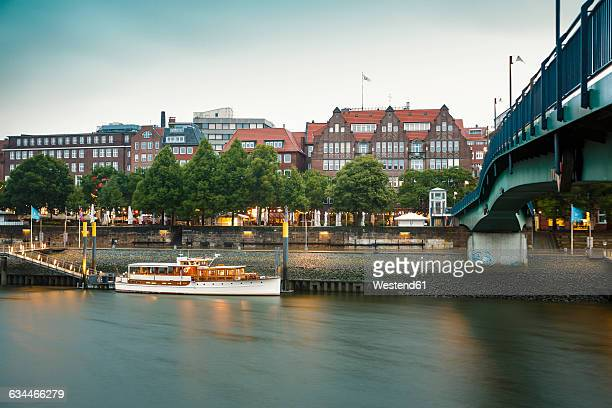 Germany, Bremen, on the River Weser, Schlachte
