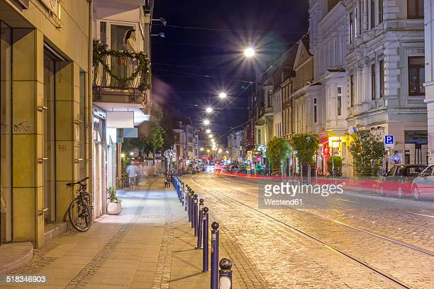 Germany, Bremen, Ostertorsteinweg, a street in the nightclub district
