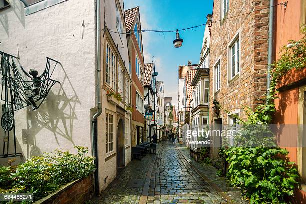 germany, bremen, schnoor district - bremen stock pictures, royalty-free photos & images