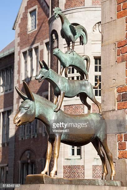 Germany, Bremen, Sculpture, Town Musicians of Bremen