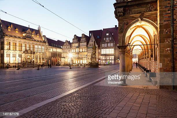 germany, bremen, view of market place - bremen stock pictures, royalty-free photos & images