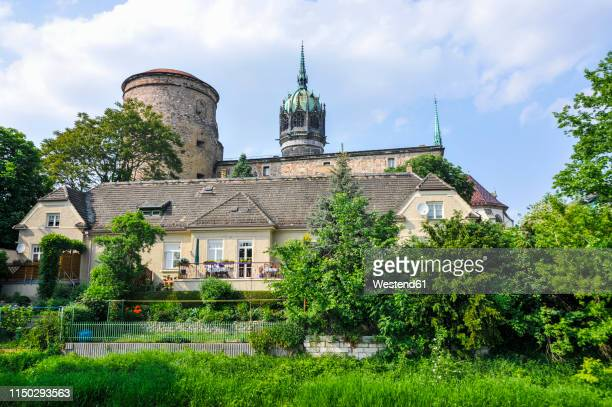 germany, buildings in wittenberg - lutherstadt wittenberg stock pictures, royalty-free photos & images