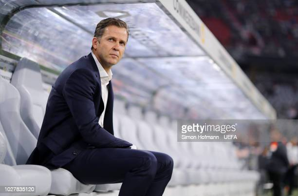 Germany Business Manager Oliver Bierhoff looks on prior to the UEFA Nations League Group A match between Germany and France at Allianz Arena on...