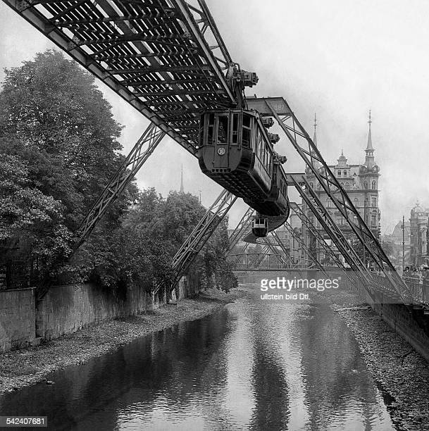 Germany cable railway in Wuppertal trace in the valley of the river Wupper 1906