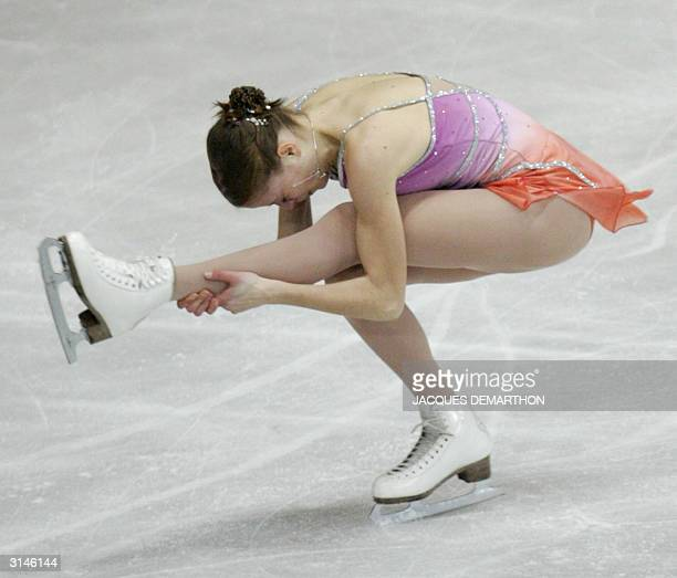 Carolina Kostner of Italy performs in the Ladies Free Skating competition at the 2004 World Figure Skating Championships in Dortmund 27 March 2004...