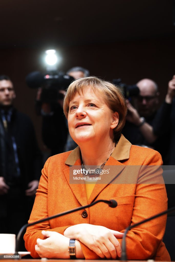 Merkel Testifies At NSA Bundestag Hearing