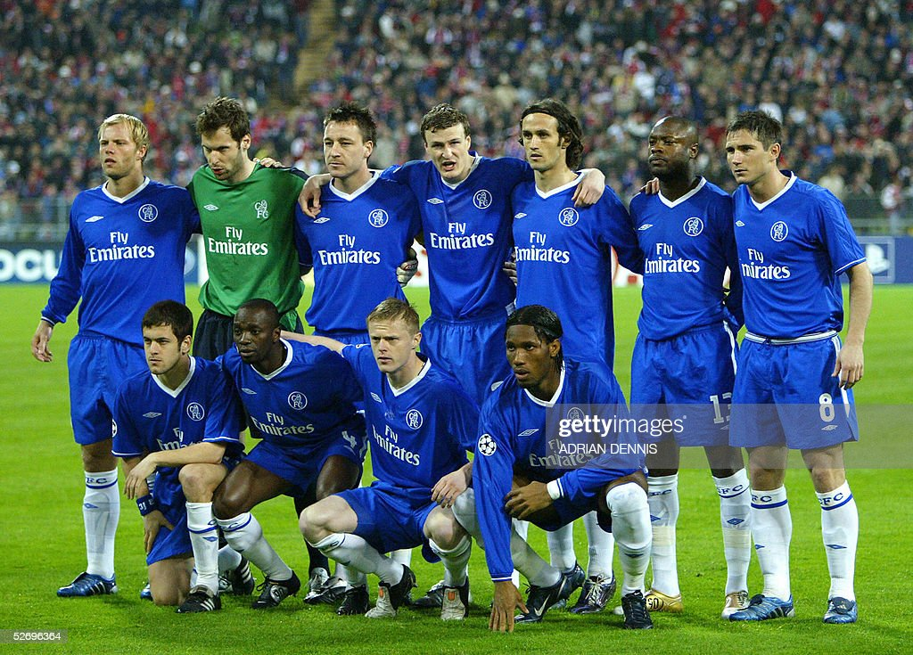 Chelsea Football team before the match a : News Photo