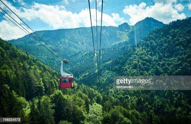 Germany, Chiemgau, gondola of Hochfelln Cable Car