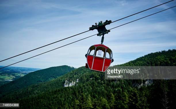 germany, chiemgau, gondola of kampenwandbahn - overhead cable car stock pictures, royalty-free photos & images